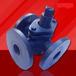 Cast Iron Three Way Plug Valve Flanged, For Industrial