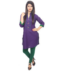 Plain Cotton Long Kurti
