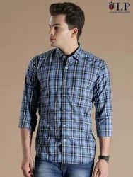 Cotton Printed Men Casual Shirt, Size: 44