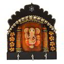 Wooden Ganesha 3 Key Holder
