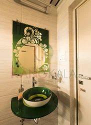 Green Glass Wash Basin