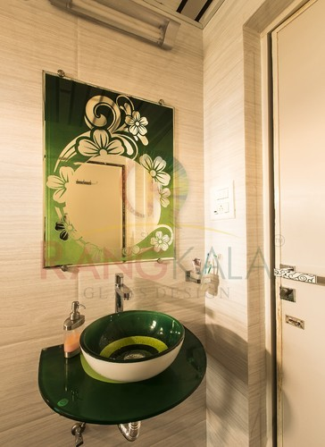 Green Glass Wash Basin, Wash Basins, Sanitaryware ...