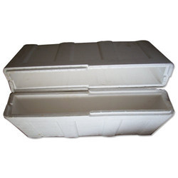 White Thermocol Ice Box, Thickness: 35mm, Capacity: 45kg