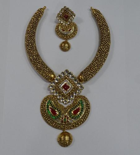 Antique kundan gold necklace set agarwal co jaipur id antique kundan gold necklace set aloadofball Gallery