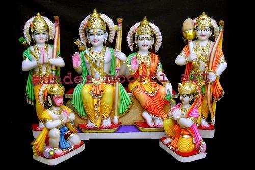 Golden Gold Plated Marble Ram Laxman Bharat Shatrughan