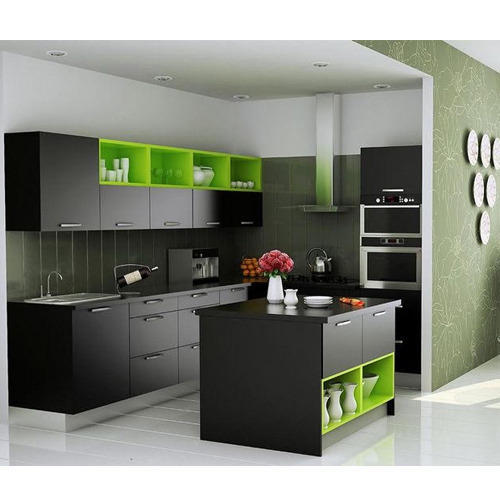 Aluminium Modular Kitchen At Rs 1100 Square Feet: Modern Italian Modular Kitchens, Rs 1100 /square Feet