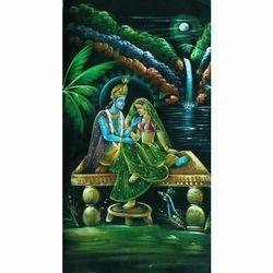 Painting Of Radha Krishna Raslila