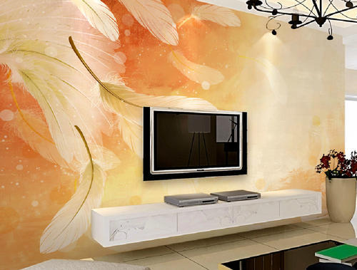 Wall Paper Designing Service - Living Room Wallpaper Design Service ...