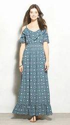 Printed Off Shoulder Dresses