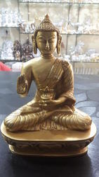 Brown Brass Budha