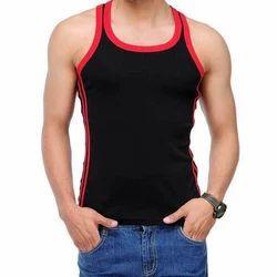 Red And Black Men''S Cotton Vest