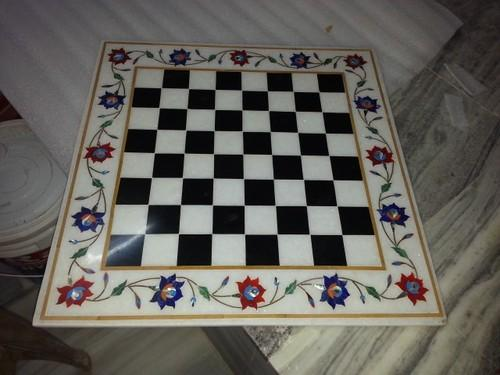 Antique Marble Inlay Panel