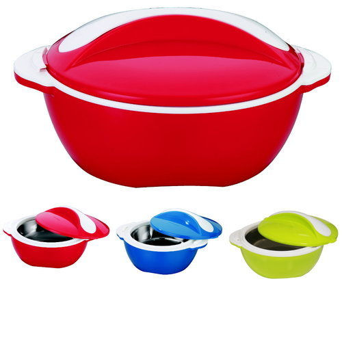 Red Pinnacle Hot Pot Insulated Food Casserole, Size: 2000 Ml