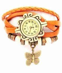 Butterfly Leather Bracelet Watch