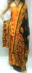 Designer Banarasi Brocade Suit with Phulkari Georgette