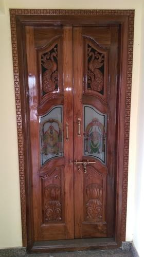 Teck Wood Pooja Door