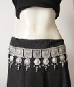 Silver Plated Belly Dance Jewellery Belt