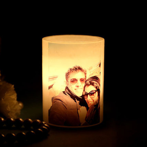 Image result for Personalized photo Candle