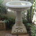 Carved Stone Bird Bath