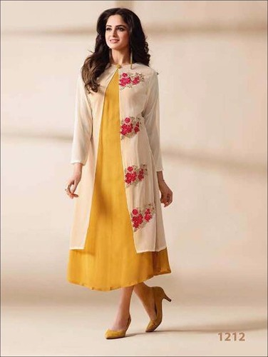 31f78420b37 Designer Stiched Party Wear Long Kurti
