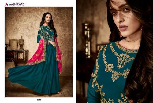 6332939238 Georgette Embroidered Anarkali Party Wear Suit, Rs 2295 /piece   ID ...