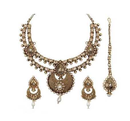 Antique Design Necklace Set Plated with Gold Studded  sc 1 st  IndiaMART & Antique Design Necklace Set Plated With Gold Studded at Rs 2950 ...