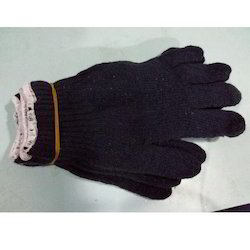 Black Cotton Hand Gloves