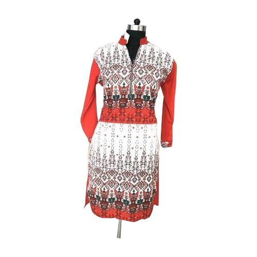 Available In Many Colors Casual Fancy Printed Ladies Kurti