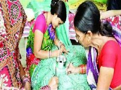 Women Saree Painting Services
