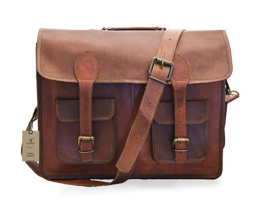 89a0f32d7b68 Leather Laptop Bag - Leather School Bag Manufacturer from Udaipur