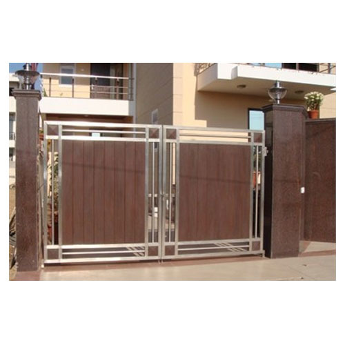 Stainless Steel Modern House Gate Designs: Stainless Steel Front Gate, Gate, Grilles, Fences