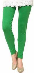 Green Cotton Leggings
