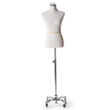 Fiberglass Adams Mannequins Female Dress Form With Chrome Base