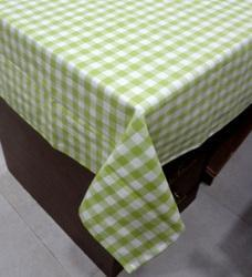 Green Checkered Cotton Table Linen