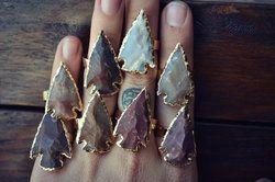 Gemstone Arrowhead Ring