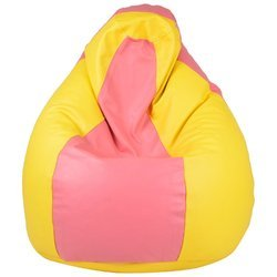 Galaxy Beanbag Xxxl Pink and Yellow Beanbag