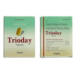 Trioday (Tenofovir Disoproxil Fumarate,Lamivudine & Efavirenz Tablets), Packaging Type: Strip, 1 x 30