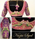 Cotton And Georgette Plain And Embroidered Designer Work Blouse