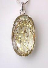 Golden Rutile Quartz Necklace