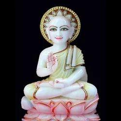 Marble Gautam Swami Jain Statue