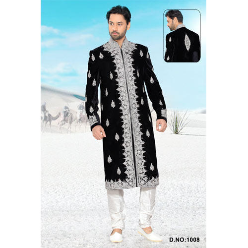 Ethnic Wear Embroidered Indian Wedding Party Wear Sherwani At Rs
