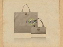 Organic Canvas Foldable Bag with Button