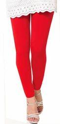 Red Cotton Leggings