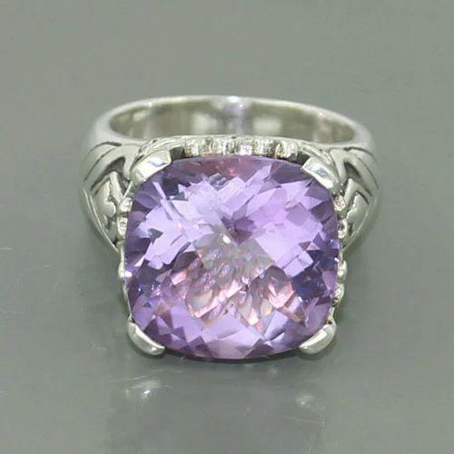 African Purple Amethyst Gemstone Ring