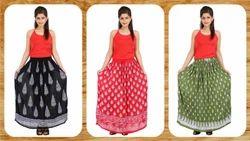 Khadi Printed Skirt
