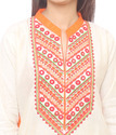 3/4th Sleeve Cotton Embroidered Kurti