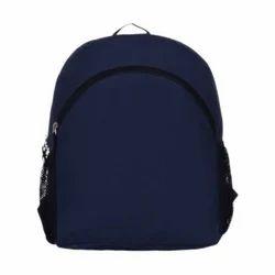6b7d083409 Nylon Plain Navy Blue Bag Pack