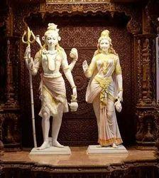 Marble Shiv Parvati Statue....