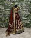 Designer Wedding-Wear Raw Silk Lehenga