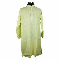 Full Sleeves Poly Cotton Men's Kurta, SIMPLE